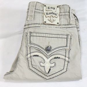 Rare ROCK REVIVAL Boot Stretch Twill Pants